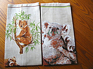 Koala Bear Linen Kitchen Towels