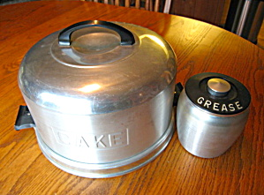 Kromex Cake Saver & Grease Jar