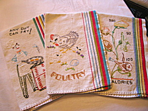 Vintage Embroidered Kitchen Towels