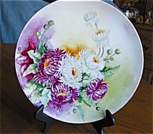 Haviland Limoges Dahlias Display Plate