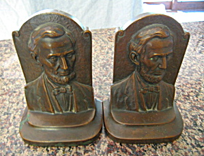 Antique Lincoln Bookends Jennings Bros.