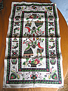 Vintage Linen Dutch People Kitchen Towel