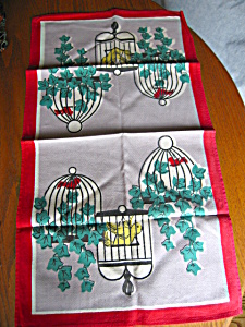 Vintage Canary Kitchen Towel