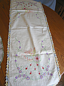 Embroidered Ladies Table Runner