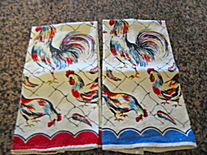 Vintage Rooster Kitchen Towels