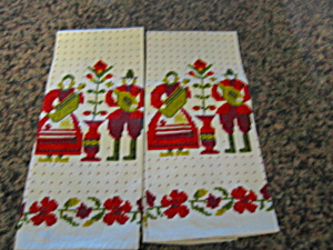 Vintage Kitchen Linen Towels