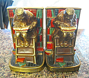Marion Bronze Polychrome Bookends Large