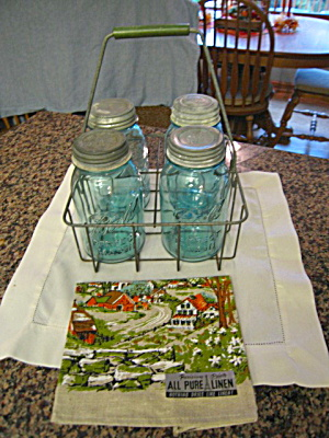 Ball Mason Jars W/dairy Carrier