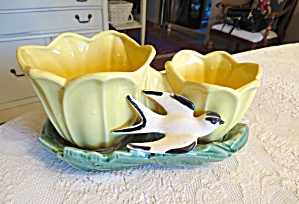 Mccoy Double Cache Bird Planter