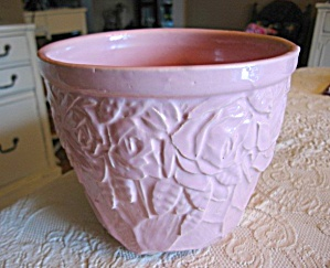 Mccoy Pottery Pink Roses Jardiniere