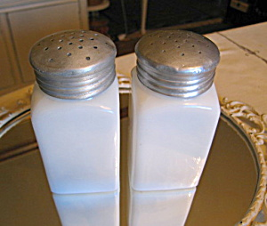 Vintage Milk Glass Jars Large
