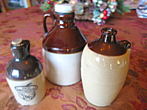 Antique Miniature Stoneware Vessels