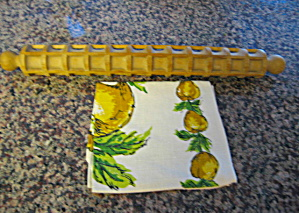 Pasta Rolling Pin And Towel Vintage