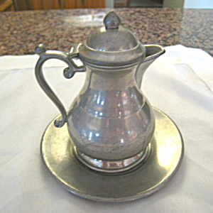 Vintage Trinac Pewter Syrup Pitcher