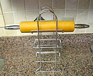 Vintage Rolling Pin And Rack