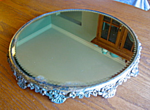 Giant Antique Mirrored Plateau