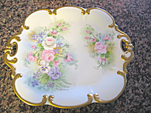Tirshenreuth Antique German Signed Tray
