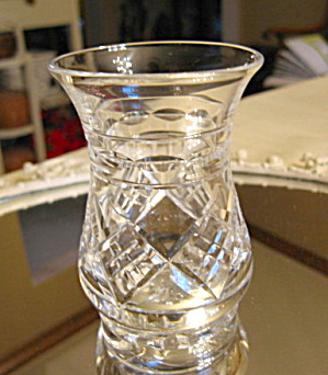 Signed Cut Crystal Posey Vase