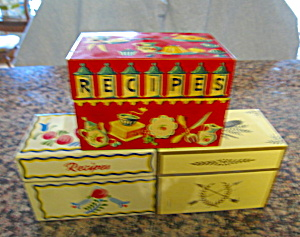 Collectible Vintage Recipe Boxes