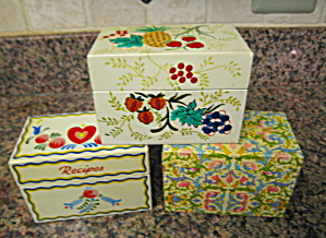 Three Collectible Recipe Boxes