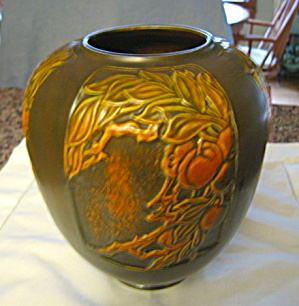 Antique Roseville Panel Vase