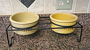 Ransbottom Cat Bowls And Stand
