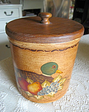 Ransbottom Hand Painted Duck Crock