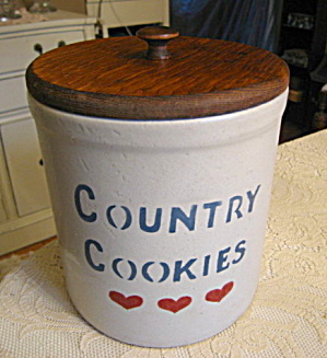 Ransbottom Crown Cookie Jar Crock