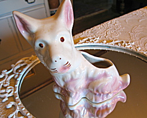 Scottie Dog Planter Vintage