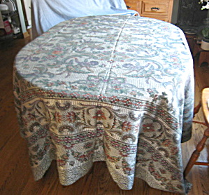 Large Vintage Silk Tablecloth