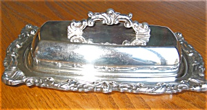 Antique Silver Copper Butter Dish
