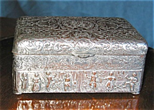 Antique Silver Plate Box