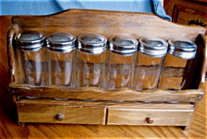 Vintage Spice Rack Set