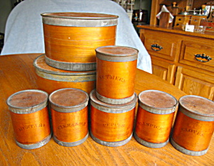 Rare Birch Spice Containers