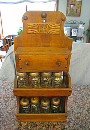 Primitive Antique Spice Cabinet