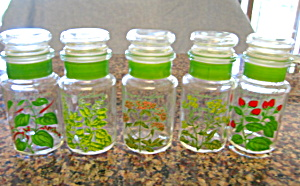 Colorful Glass Spice Jars