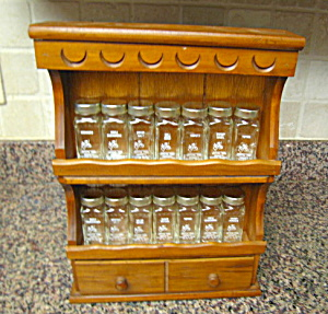 Crystal Foods Spice Jars & Rack