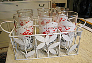 Retro Square Dancing Glass Set