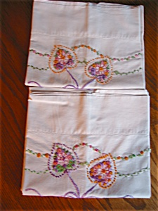 Embroidered Cotton Pillowcases