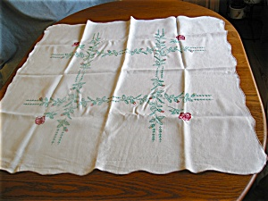 Vintage Square Linen Tablecloth