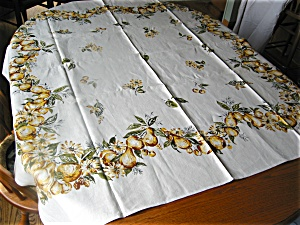 Linen Fruit Tablecloth