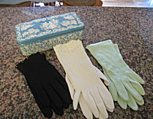 Vintage Daher Tin W/gloves