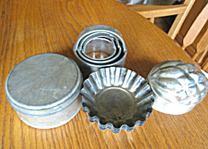 Vintage Tin Molds & Cutters