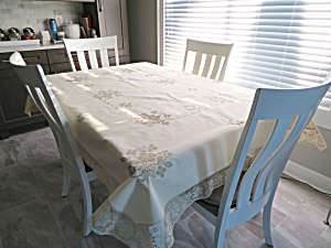 Linen & Lace Vintage Tablecloth