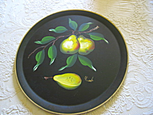 Hand Painted Tray Vintage Signed