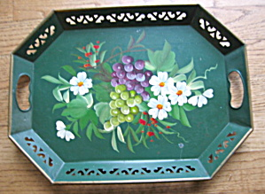Vintage Painted Metal Tray