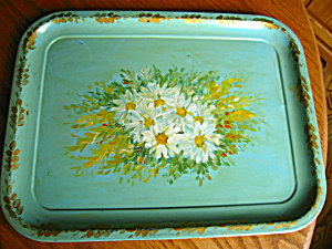 Vintage Hand Painted Metal Tray