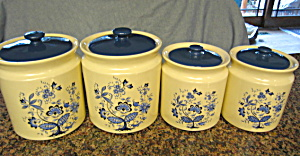 Vintage Usa Pottery Cannister Set