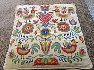 Needlework Vintage Pillow