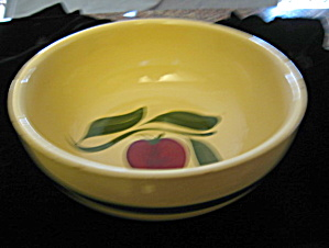 Watt Pottery Apple Salad Bowl